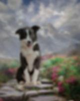 Mountain Path Custom Pet Portrait Painti