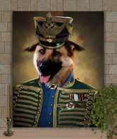 Sir Benjamin Period Style Custom Pet Portrait Painting