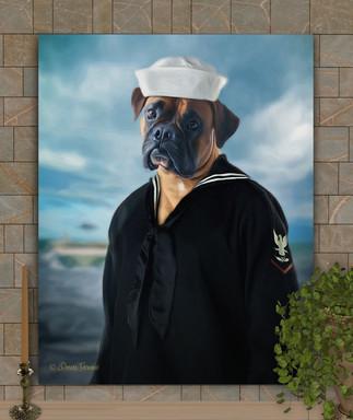 Sailor Costume Custom Pet Portrait Painting