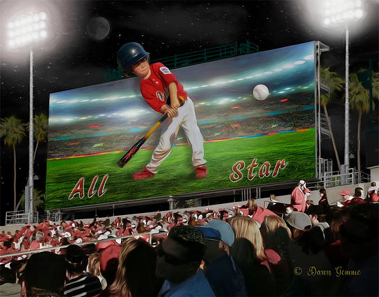 Pop Out Billboard Custom Baseball Portra