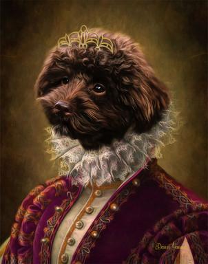 Duchess Abigail Period Style Custom Pet Portrait Painting