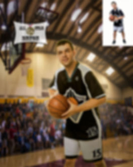 Personalized All Star Basketball Portrai