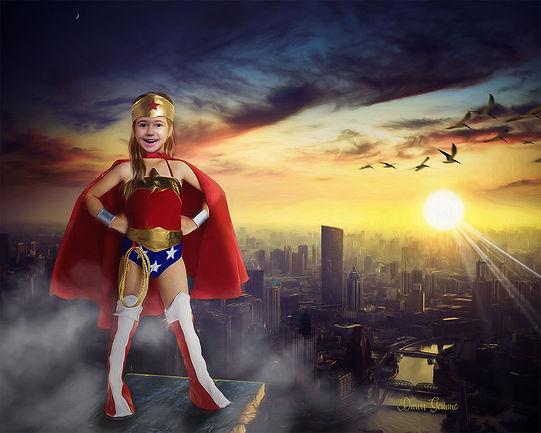 Supergirl Fairytale Custom Child Portrai