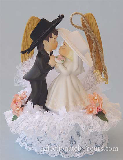 Western In Style Cowgirl Bride and Cowboy Groom Customized Wedding Cake Topper