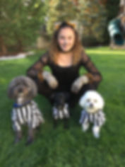 Girl and 3 Dogs Before Photo