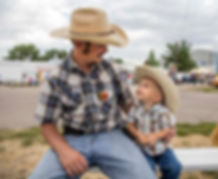 Cowboy and Son Before Image