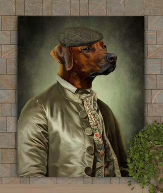 Sir Phillips Period Style Custom Pet Portrait Painting