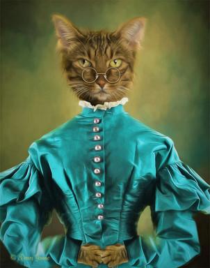 Lady Bennett Period Style Custom Pet Por