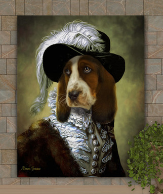 The Spinster Period Style Custom Pet Portrait Painting