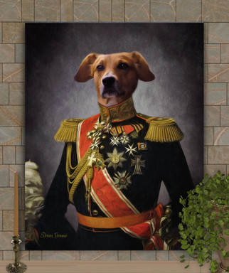 Lord Moore Period Style Custom Pet Portrait Painting
