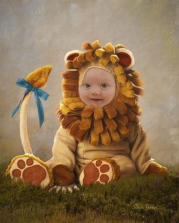 Baby Lion Custom Child Fairytale Portrai