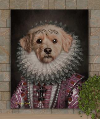Countess Elinor Period Style Custom Pet Portrait Painting