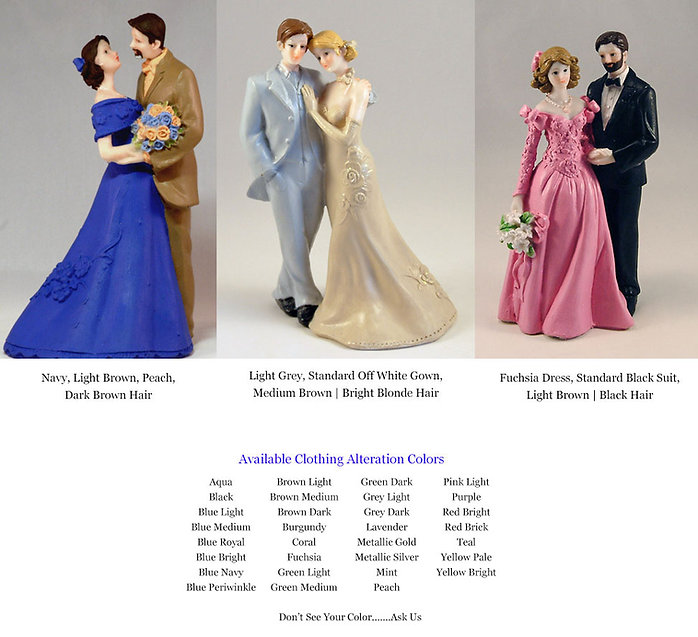 Wedding Figurine Clothing Colors