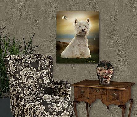 Calm Seas Copper Custom Pet Portrait Pai