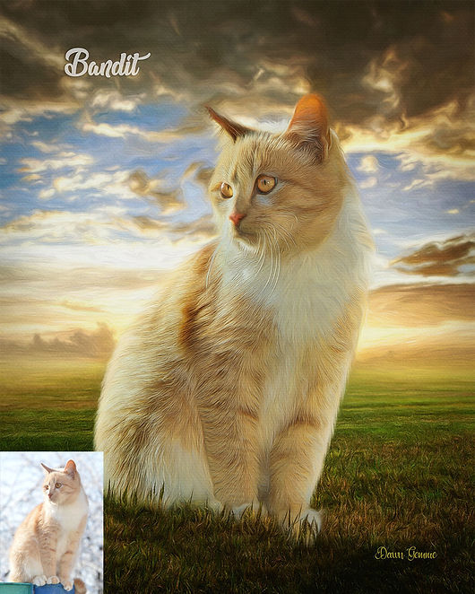Days End Custom Oils Pet Portrait Painti