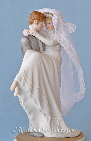 Through The Eyes Of Love Bride and Groom Wedding Cake Topper