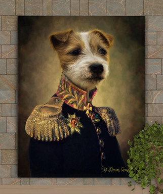 Sir Reuben Period Style Custom Pet Portrait Painting
