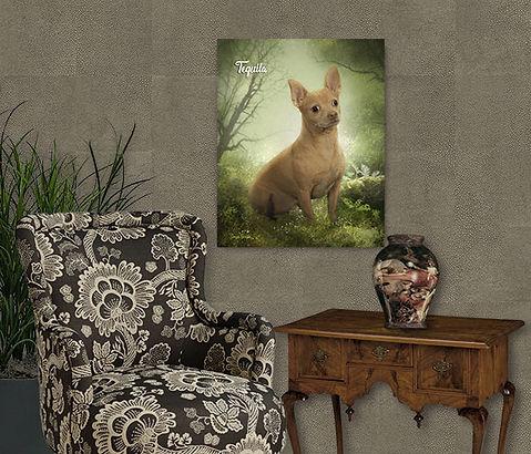 Green Glen Hideaway Custom Pet Portrait