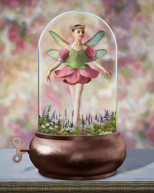 Musicbox Fairy Child Fantasy Painting