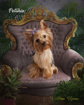 Studio Formal Custom Pet Portrait Painting