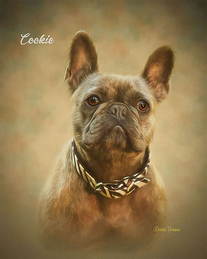 Earth Tones Custom Pet Portrait Painting