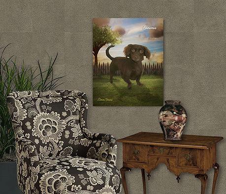 Natural Tones Custom Oil Pet Painting