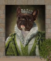 Princess Ann Period Style Custom Pet Portrait Painting