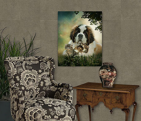 Turquoise Dream Custom Pet Portrait Pain