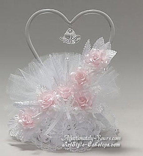 Heartful Bells Customized Anniversary or Wedding Cake Topper