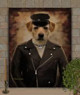 Biker Dude or Gal Custom Pet Portrait Painting