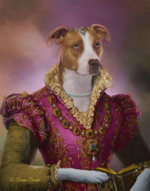 Princess Rachel Period Style Custom Pet Portrait Painting