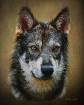 Bronze Glow Custom Pet Portrait Painting