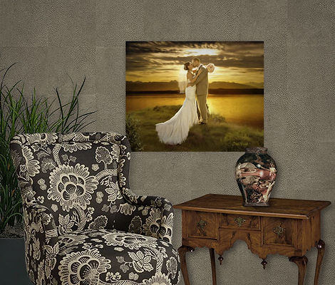 Golden Sunset Custom Digital Oils Weddin