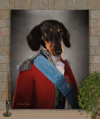Lord Ellis Period Style Custom Pet Portrait Painting