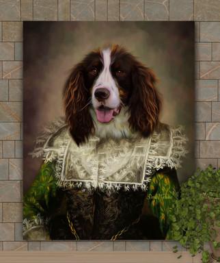 Duchess Marion Period Style Custom Pet Portrait Painting