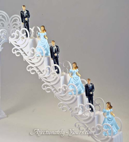Wedding  Cake Attendant Figurines and Staircase Set
