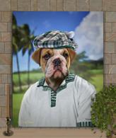 Golfer Custom Pet Portrait Painting