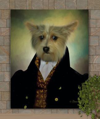 Lord Salisbury Period Style Custom Pet Portrait Painting
