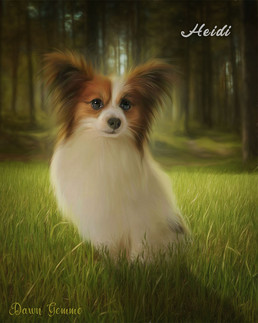 Sunny Forest Clearing Custom Pet Portrait Painting