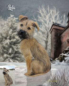 Winter Castle Custom Pet Portrait Painti