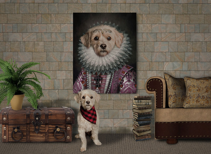 Custom Pet Portrait Room Scene