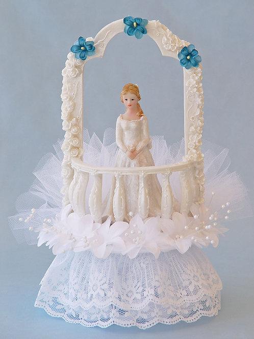 Castle Balcony Sweet 16 - 15 Quinceañera Customized Cake Topper