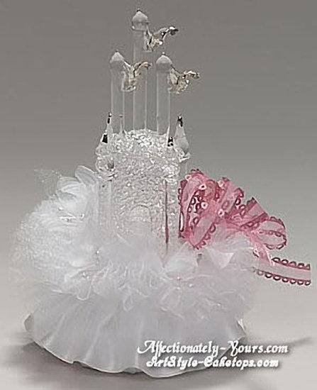 Fantasy Glass Castle Customized Wedding Cake Topper