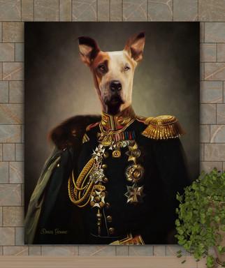 Sir Hiram Period Style Custom Pet Portrait Painting