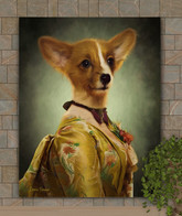 Miss Mabel Period Style Custom Pet Portrait Painting