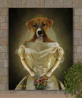 Bride Period Style Custom Pet Portrait Painting