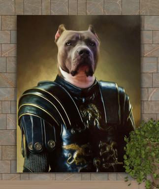 Castle Knight Period Style Custom Pet Portrait Painting