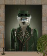 Steampunk Gal Custom Period Style Pet Portrait Painting