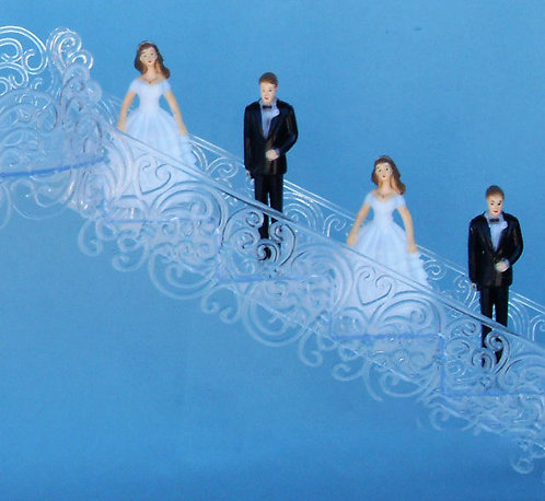 3 Inch Wedding Cake Attendant Figurines