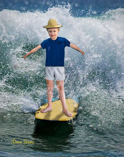 Surfer Boy Custom Children's Fantasy Portrait